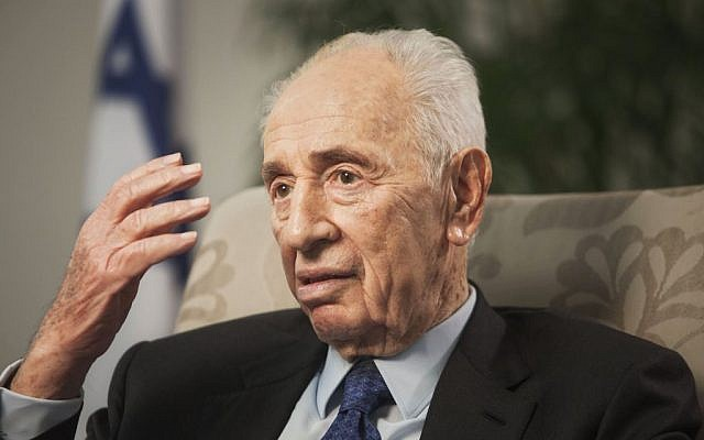 Former president Shimon Peres in Jerusalem, November 2, 2015 (AP Photo/Dan Balilty)