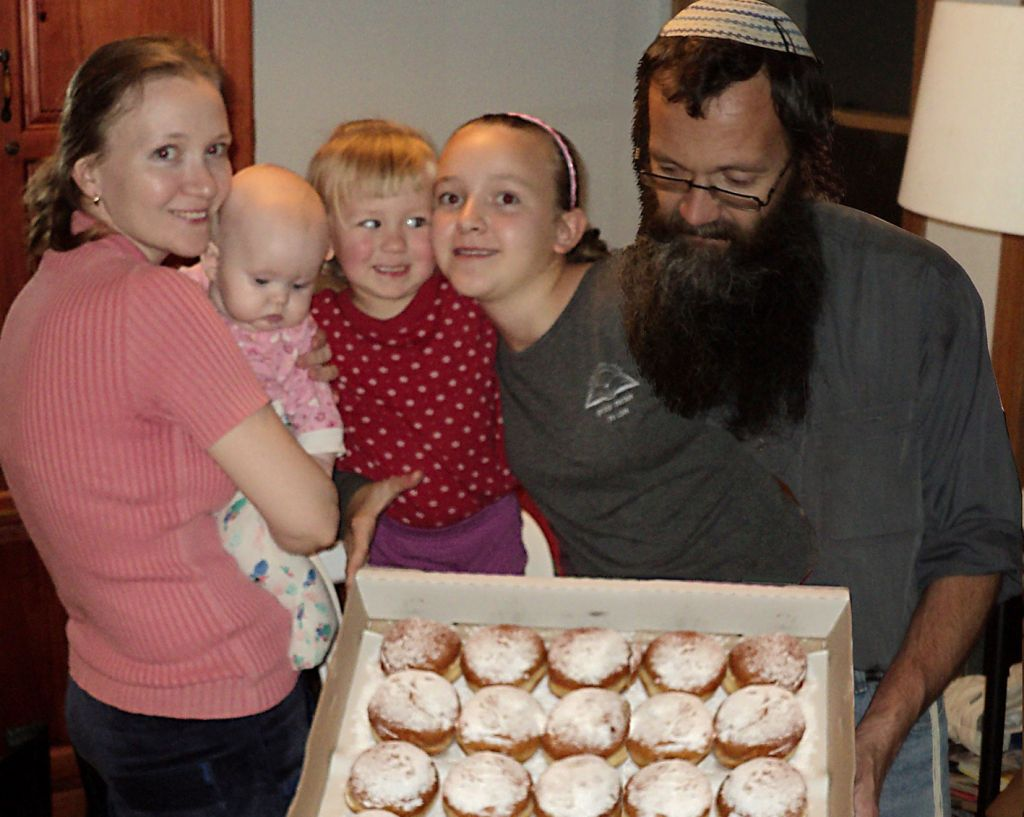 The Mostovski family, Michael, Masha, and their three daughters, Keren (13.5), Zehava (3.5) and Adina (1.5) were converted in an independent Efrat beit din. (courtesy)