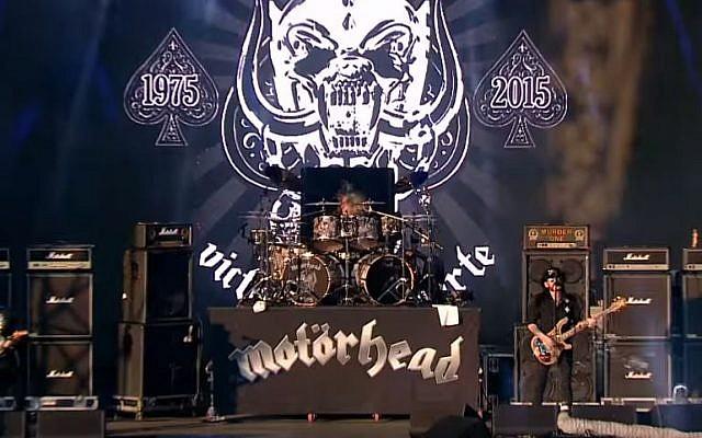 The British heavy metal band Motorhead performing in 2015. (YouTube: VOLT Fesztivál)