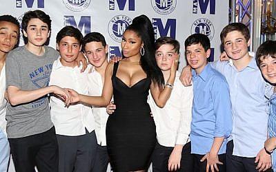 Nicki Minaj at a bar mitzvah party. (Instagram via JTA)