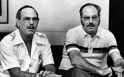 In this Nov. 25, 1979 photo, Jack Yufe, left, and his twin brother, Oskar, look on. Separated soon after birth, Jack Yufe was raised as a Jew in Trinidad while his sibling Oskar grew up in Nazi Germany where he joined the Hitler Youth when he was 12. Jack Yufe, who survived his brother by 18 years, died Monday, Nov. 9, 2015, at age 82. (Robert Lachman/Los Angeles Times via AP)