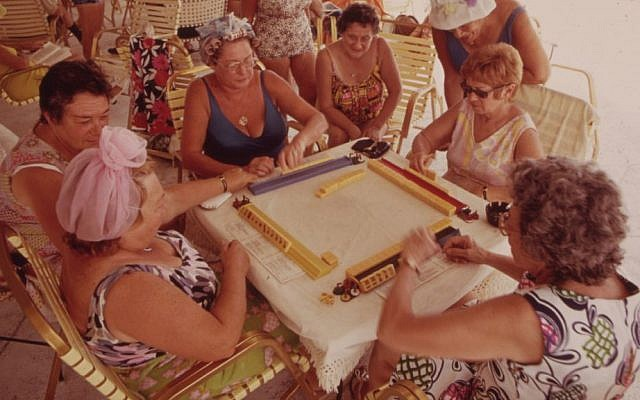 'Playing Mah-Jong at the Clubhouse of the Century Village Retirement Community' by Flip Schulke (U.S. National Archives and Records Administration/Public Domain via Wikimedia Commons)