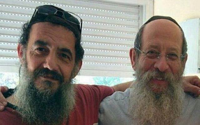 Rabbi Tzion Saadoun of Beth Chabad of Marseille, left, with Rabbi Yosef Y. Labkowski, director of Beth Chabad of Marseille.  Chabad.org/News)