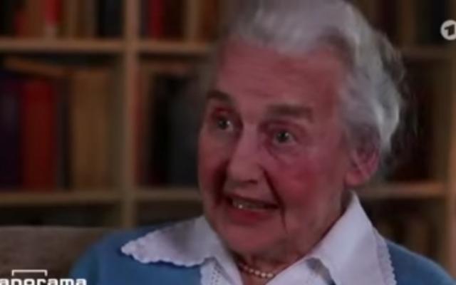 Ursula Haverbeck (YouTube screenshot)