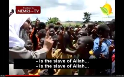 Egyptian Muslim cleric Wahid Abd Al-Salam Bali preaching Islam in Africa (MEMRI)