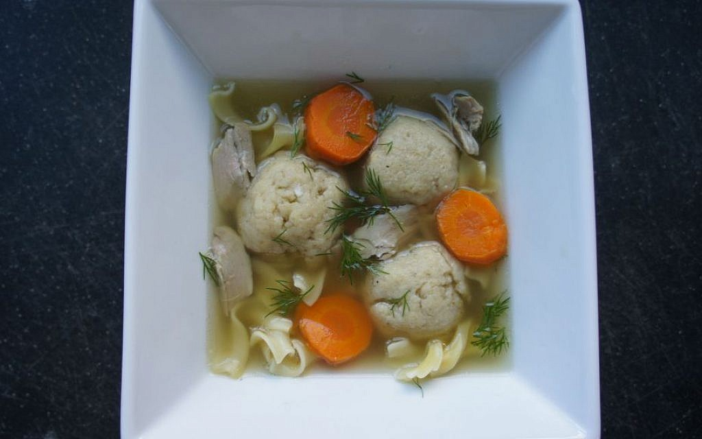 Leftover Turkey Noodle Soup with Matzah Balls (Shannon Sarna/via JTA)