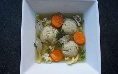 Leftover Turkey Noodle Soup with Matzah Balls (Shannon Sarna/via JTA)