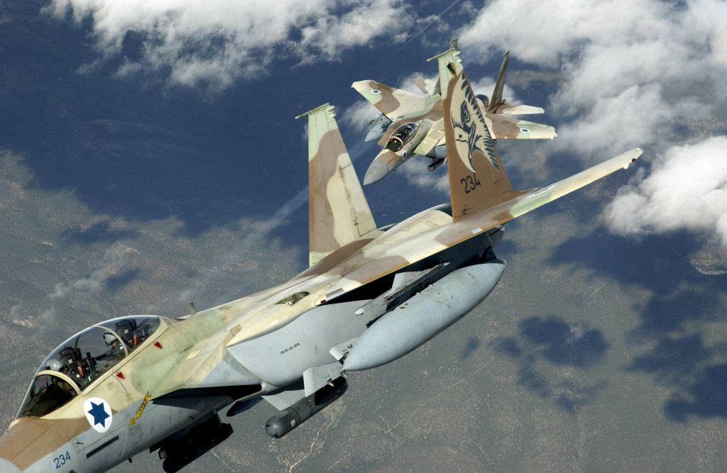 Illustrative: Two Israeli Air Force F-15 Ra'ams practicing air maneuvers. (TSGT Kevin J. Gruenwald, USAF/Wikipedia)
