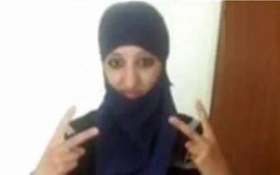 Hasna Ait Boulahcen (YouTube screen capture)