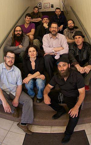 Jon Madof, left, and his band, Zion80. (Ben Weitz/via JTA)