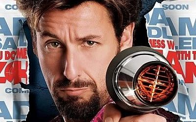 Adam Sandler appears as the eponymous former member of the Israeli special forces in a poster for the movie 'You Don't Mess with the Zohan'
