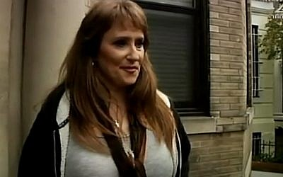 Anne Pollard, the former wife of Jonathan Pollard, returns to Washington for the first time in 30 years, in an interview aired November 20, 2015. (screen capture: Channel 2)