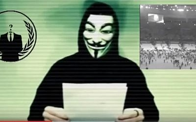The Anonymous hacking group declares war against the Islamic State (YouTube screenshot)
