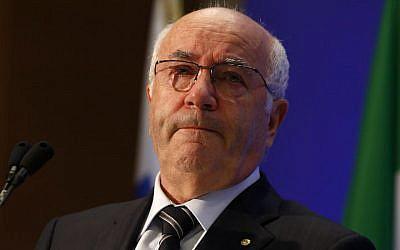 Italian Soccer Federation President Carlo Tavecchio on Aug. 11, 2014. (AP Photo/Riccardo De Luca)