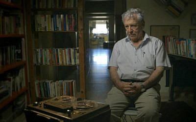 Amos Oz has always spoken his mind; here, he is in a scene from 'Censored Voices,' the award-winning documentary about the Six-Day War based on the book he co-wrote (Courtesy 'Censored Voices')