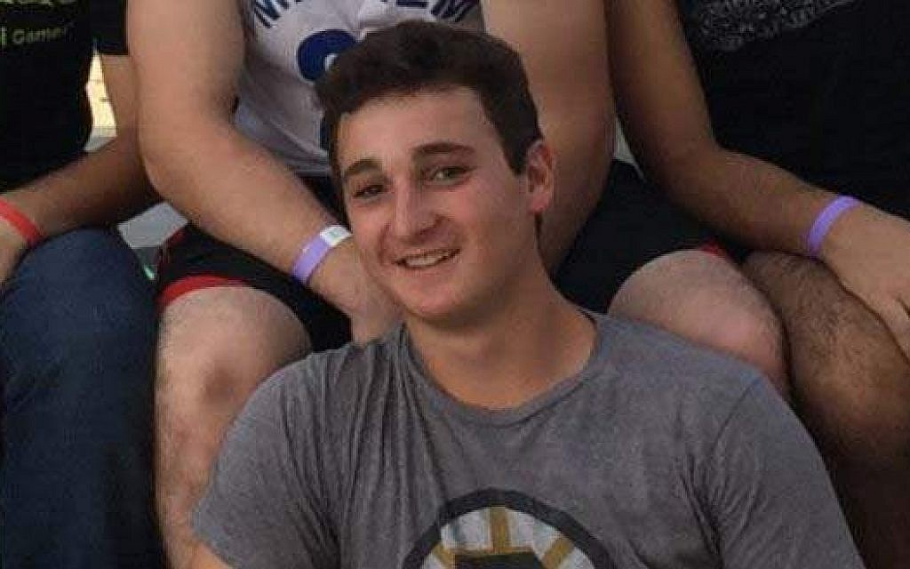 18-year-old Ezra Schwartz from Massachusetts, killed during a terrorist attack at the Gush Etzion Junction, November 19, 2015. (Courtesy)