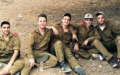 Ezra Schwartz, center, was murdered by a Palestinian terrorist south of Jerusalem on November 19, 2015. At the time, Schwartz was spending a gap year at a Beit Shemesh yeshiva. (Facebook)