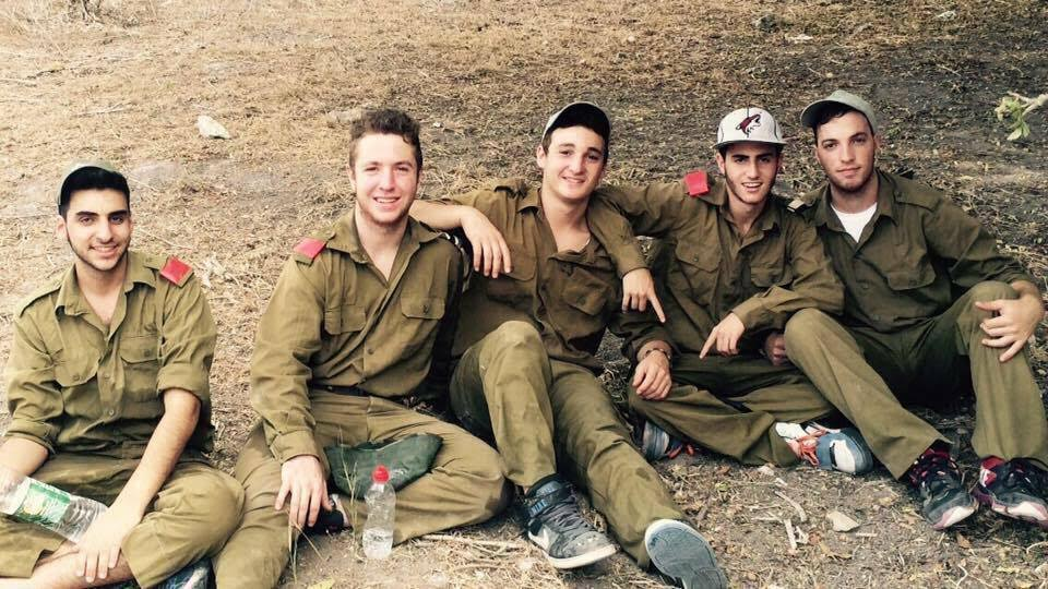 Ezra Schwartz, center, was murdered by a Palestinian terrorist south of Jerusalem on November 19, 2015. At the time, Schwartz was spending a gap year at a Beit Shemesh yeshiva. (Facebook)