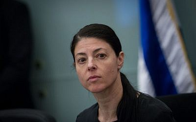 MK Merav Michaeli of the Zionist Union party at the Knesset, November 02, 2015. (Miriam Alster/Flash90)