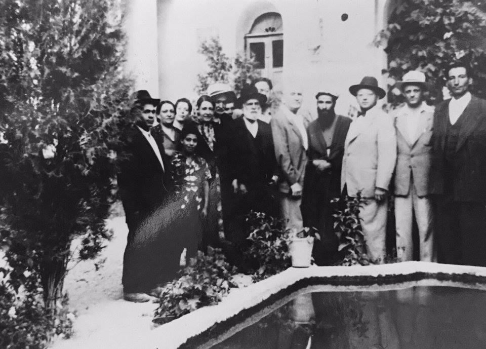 Jewish Agency head Yitzak Sapir visiting Golpaygan circa 1960 (Courtesy Noa Shalom)