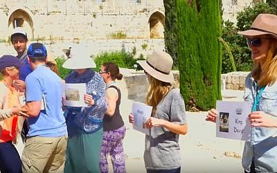 Illustrative screen capture of a Honeymoon Israel interfaith couples trip to Israel. (YouTube/Avi Rubel)