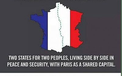 An Internet meme protesting perceived double standards towards France and Israel (Facebook)