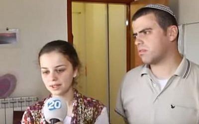 Sarah Techiya Litman and Ariel Beigle. (Screenshot from YoutTube)