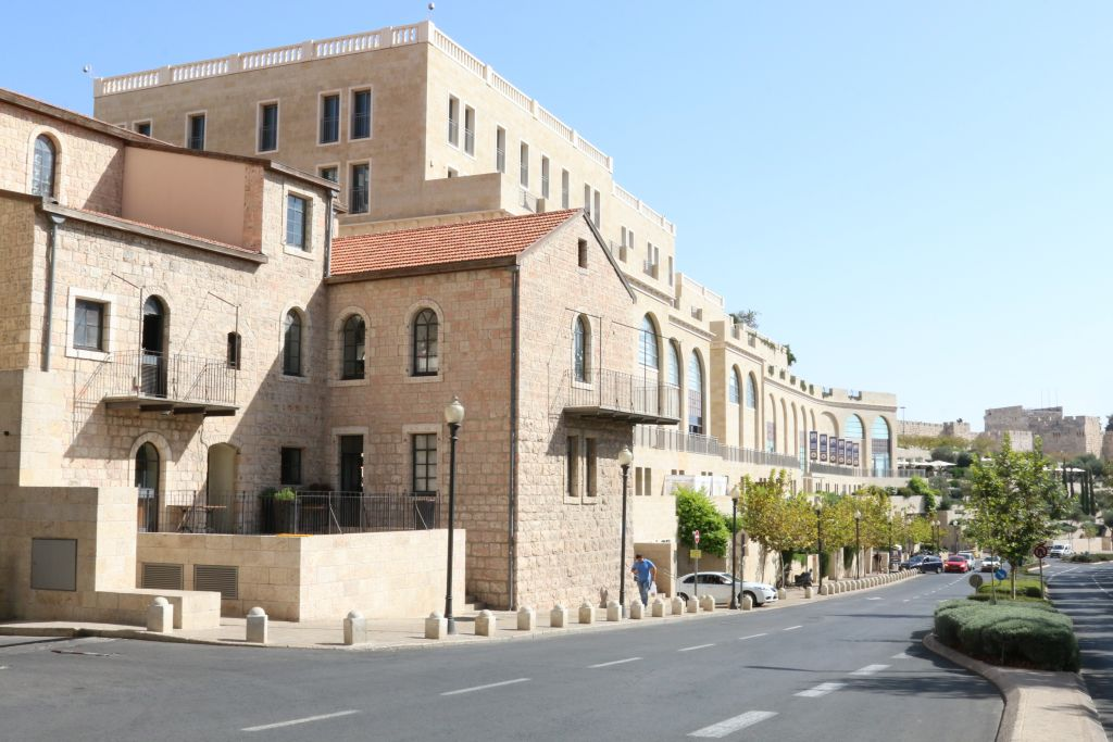 Mamilla, at street level below the mall (Shmuel Bar-Am)