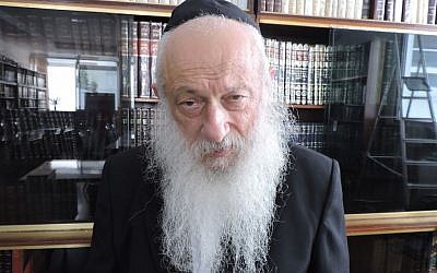 Rabbi Shalom Edelman has served as a Chabad emissary in Morocco since 1958. (Ben Sales/JTA)