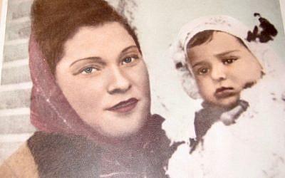 Golda Kirshner and her son Sheldon in the 1940s (Courtesy: Kirshner family)