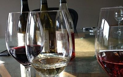 Illustrative photo of wine glasses. (Jessica Steinberg/Times of Israel)