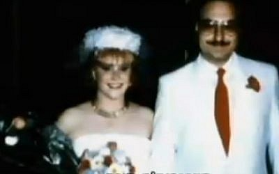 Jonathan and Anne Pollard on their wedding day (Screen capture: Channel 2)