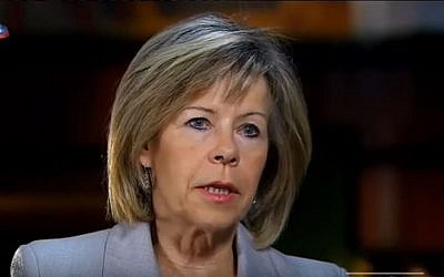 Portuguese presidential candidate Maria de Belem speaks in an October 17, 2015 interview. (screen shot: YouTube)