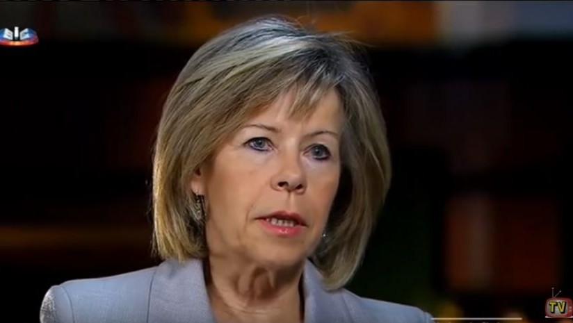 38c1f894922 Portuguese presidential candidate Maria de Belem speaks in an October 17