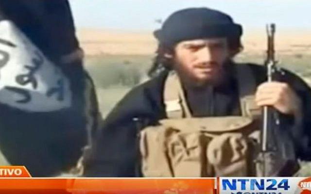 Wanted Islamic State group member Tirad al-Jarba who is also known as Abu Muhammad al-Shimali. (YouTube/NTN24)