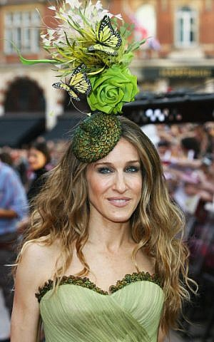 """Sarah Jessica Parker attends the premiere of the """"Sex and the City"""" movie in London, May 12, 2008. (Gareth Cattermole/Getty Images/ via JTA)"""