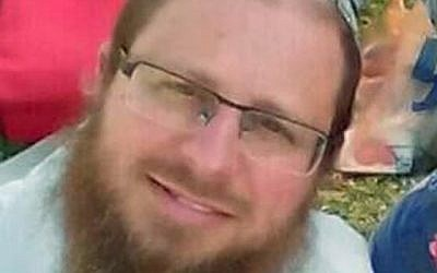 Rabbi Ya'akov Litman, who was killed in a terror attack near the West Bank city of Hebron on November 13, 2015. (screen shot: Channel 2)
