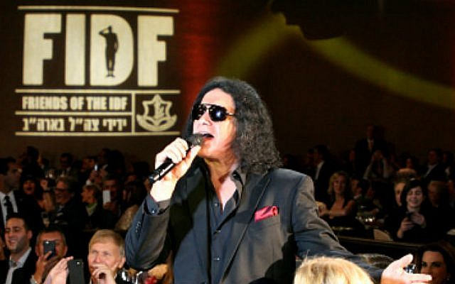 Gene Simmons attends a Friends of the Israel Defense Forces gala in Beverly Hills on November 5, 2015. (Noam Chem)