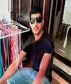 Raid Halil bin Mahmoud, suspected in a stabbing attack in Tel Aviv on Thursday, November 19, 2015 (screen capture: Channel 2)