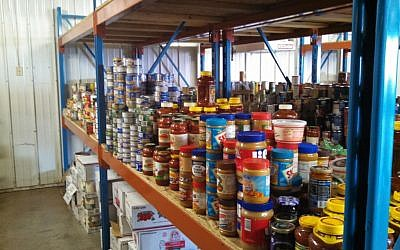 Hawkwing keeps the food pantry stocked on the reservation and provides materials and equipment to the reservation's schools and tribal programs. (Courtesy)