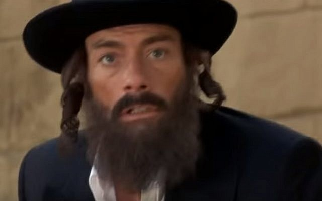 Jean-Claude Van Damme goes undercover as an ultra-Orthodox Jew in the 2001 movie The Order (screen capture: YouTube)