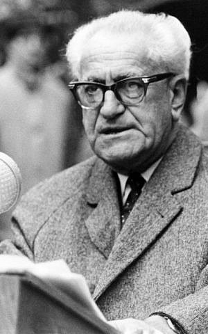 This file photo shows German general prosecutor Fritz Bauer, who was in charge of the so-called Frankfurt Auschwitz trials starting on December 20, 1963 and ending in August 1965. (AFP/DPA/MANFRED REHM)