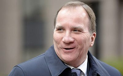 Sweden's Prime Minister Stefan Lofven arrives for a summit on relations between the European Union and Turkey and on managing the migration crisis, on November 29, 2015 in Brussels. (Thierry Charlier/AFP)