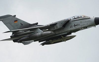 A Tornado fighter bomber of the German armed forces Bundeswehr during an exercise near Messstetten, southern Germany, June 22, 2010. (AFP/DPA/Patrick Seeger)