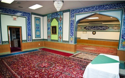 The interior of the Manassas Mosque in northern Virginia. (Courtesy Manassas Mosque)