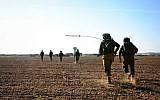 Illustrative photo of an IDF exercise near the Gaza Border on November 19, 2014. (Amit Shechter/IDF Spokesperson's Unit/Flickr)