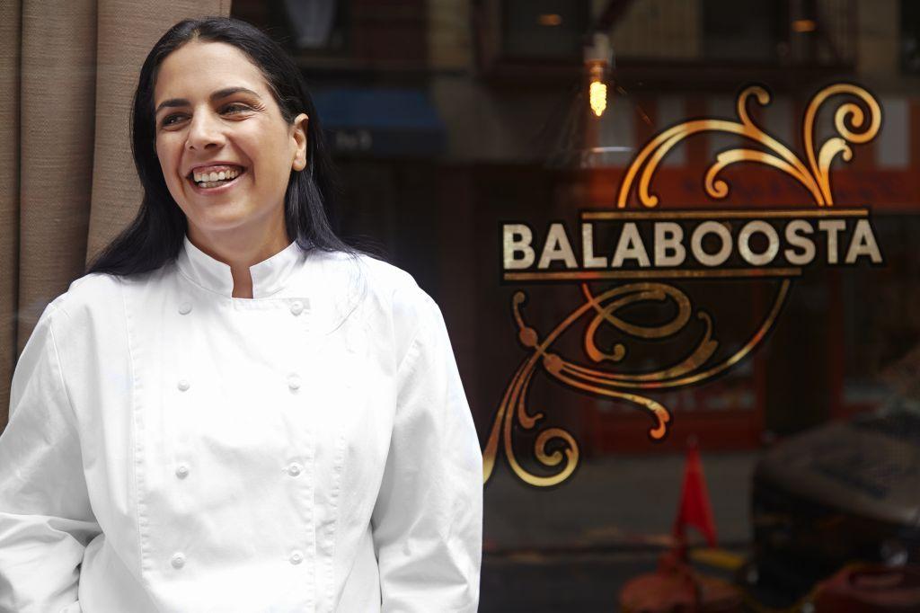 Chef Einat Admony, in front of her New York restaurant Balaboosta. She recently opened a Spanish-Israeli eatery, Combina. (Courtesy of Einat Admony/via JTA)