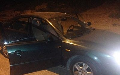 A stolen car sold to a police undercover agent who revealed a ring of criminals operating in the ultra-Orthodox Mea Shearim neighborhood of Jerusalem and in Ramat Beit Shemesh, an ultra-Orthodox offshoot of Beit Shemesh. (Israel Police)