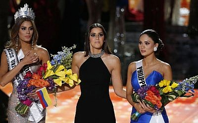 The final of the 2015 Miss Universe competition in Las Vegas, December 20, 2015. (John Locher/AP)