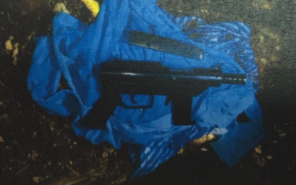 One of the guns confiscated in the arrests of five Nazareth residents, released by the Shin Bet security service on December 8, 2015. (Shin Bet)